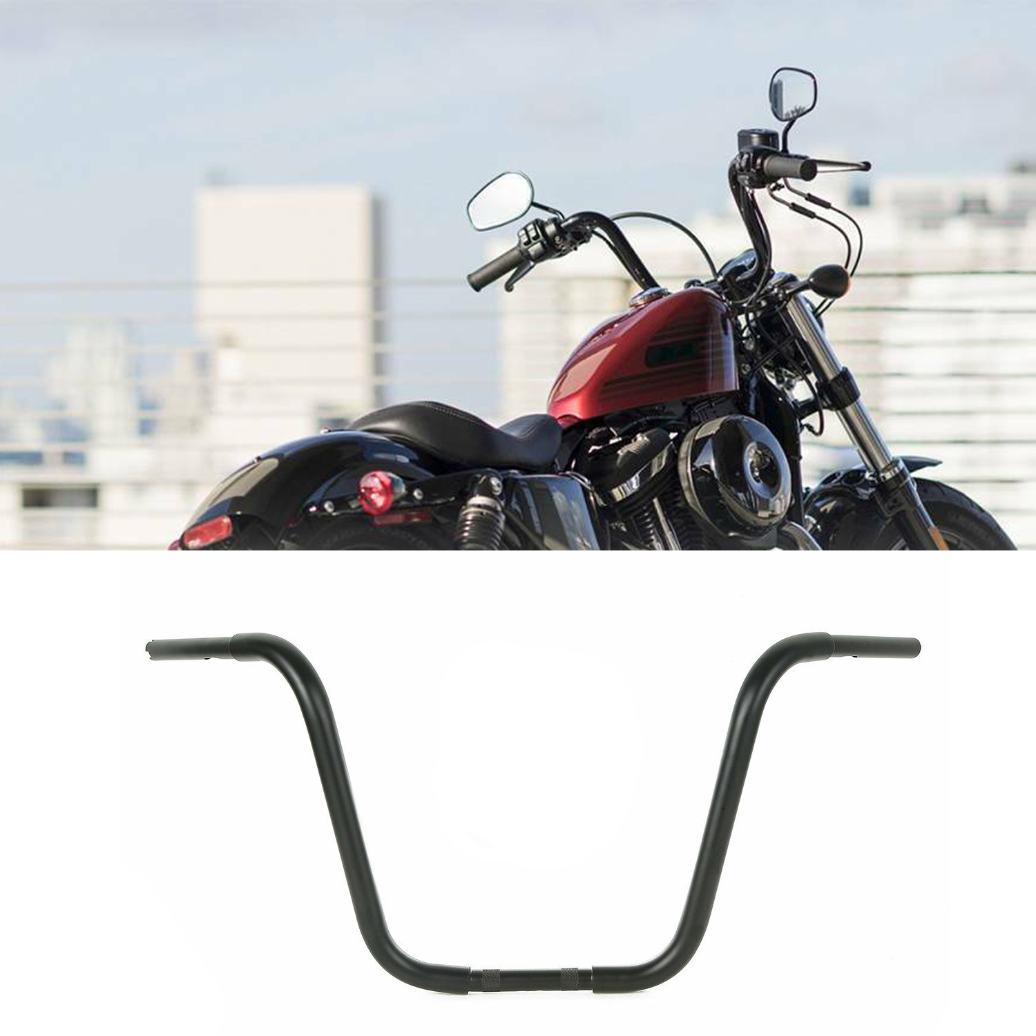 14 Inch Ape Hanger Handlebar For Harley Softail Dyna Sportster Road King Black Sindan Motorcycle Accessories